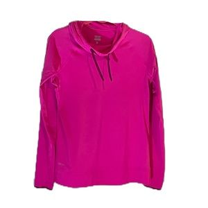 Nike Pro hot pink hoodie with thumb cut outs. good pre-owned condition